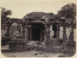 General view of the second ruined temple at Satgaon, Buldana District, Berar